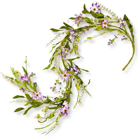 5' Spring Purple Flower Garland](Paper Flower Garland)