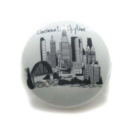 Tabletop CINCINNATI SMALL ROUND BOX Ceramic Skyline Trinket Box Ccicin083