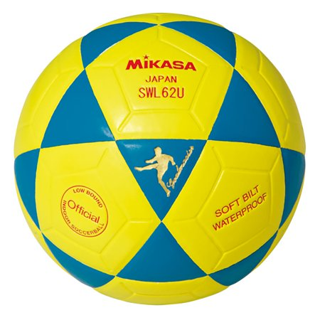 Mikasa USA Series High Grade Leather Futsal Indoor Soccer Ball, Blue and Yellow - image 4 of 4