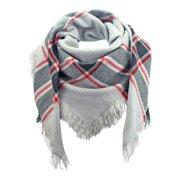 Gray Black & White Oversized Blanket Scarf Wrap 2 Pack