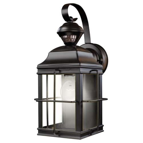 Heath Zenith HZ-4144 New England 1 Light 150 Degree Motion Activated Outdoor Wall Sconce