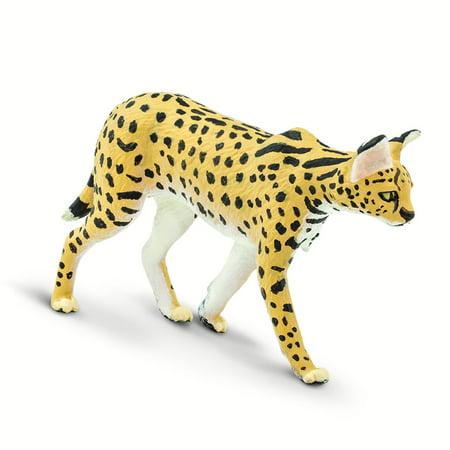 Wild Safari Wildlife Serval Safari Ltd Animal Educational Kids Toy Figure