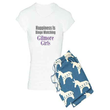 CafePress - Binge Watching Gilmore Girls Pajamas - Women's Light Pajamas