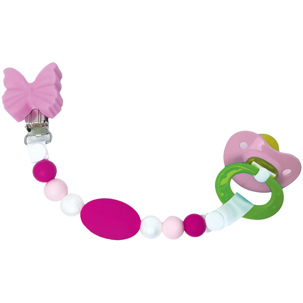 Petite Creations Silicone Pacifier Holder, Lilac Butterfly