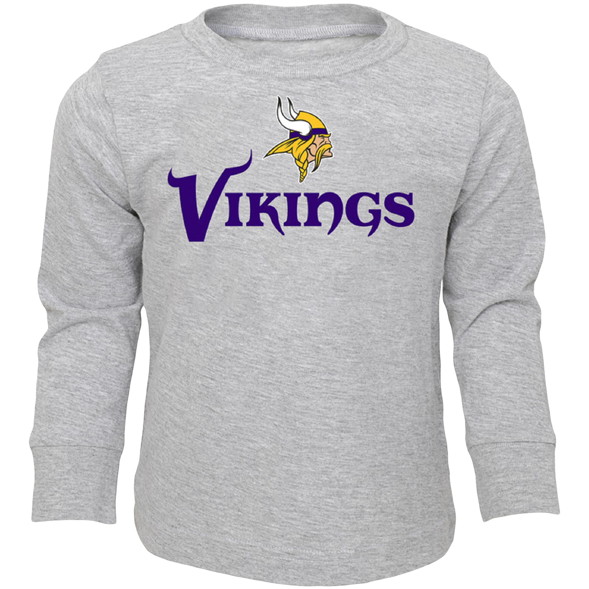 Infant Heathered Gray Minnesota Vikings Team Long Sleeve T-Shirt