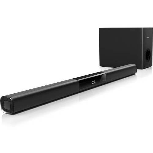 philips 2 1 channel soundbar with wired subwoofer walmart com rh walmart com Philips Soundbar Remote Control Philips 2 1 Wireless Bluetooth Soundbar with Subwoofer Black