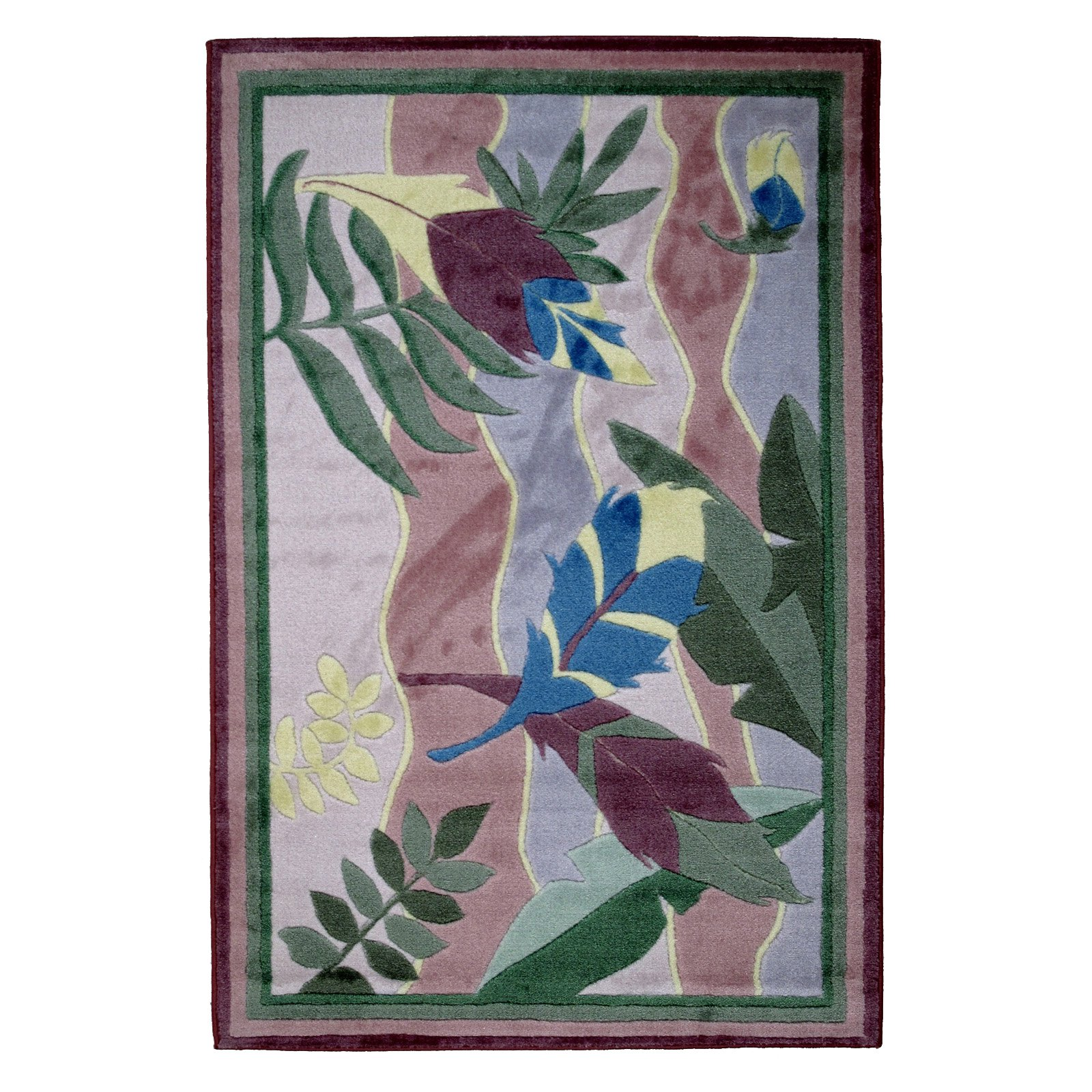 Fun Rugs Jade Reynolds JR-TSC Feathers Area Rug - Multicolor