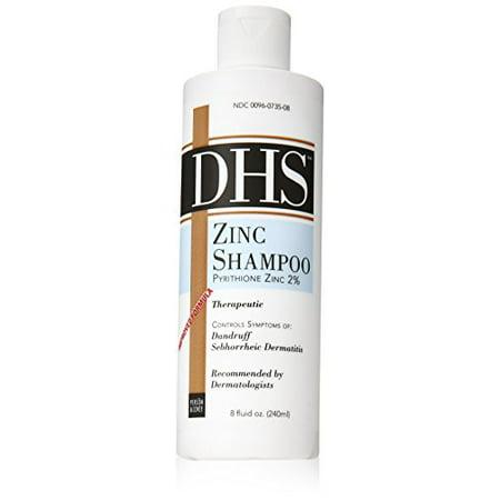 2 Pack DHS Zinc Shampoo Pyrithione Zinc 2% 8 Oz Each