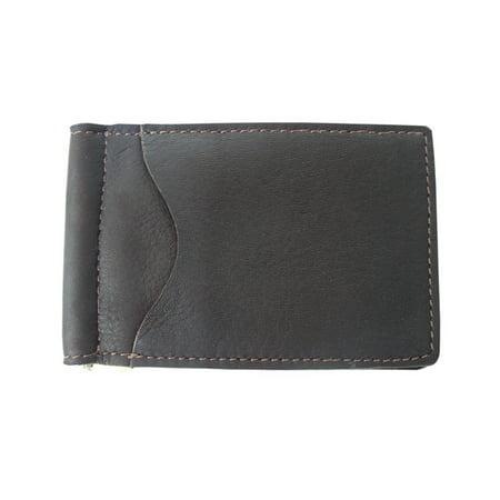 Piel Leather Bi-Fold Money Clip - Chocolate