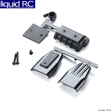RPM R/C Products 73412 Mock Intake and Blower Set Black