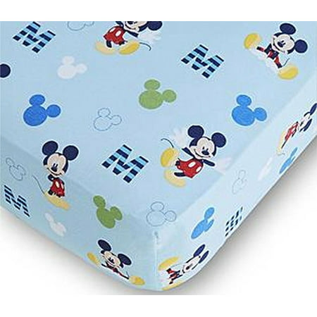 Disney Baby Mickey Mouse Fitted Crib - Mickey Crib Sheet