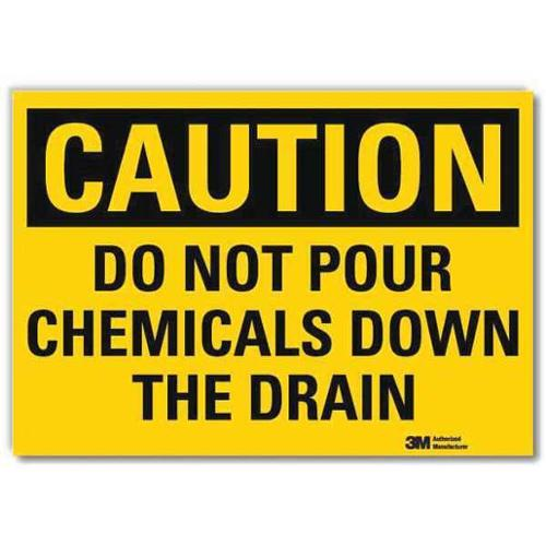 LYLE U4-1199-RD_7X5 Safety Sign,Not Pour Chemicals,5in.H G2106225