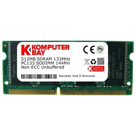 512MB SDRAM SODIMM (144 Pin) 133Mhz PC133 RAM for Brother printers, KOMPUTERBAY 512MB SDRAM SODIMM (144 Pin) 133Mhz PC133 RAM for Brother.., By KOMPUTERBAY