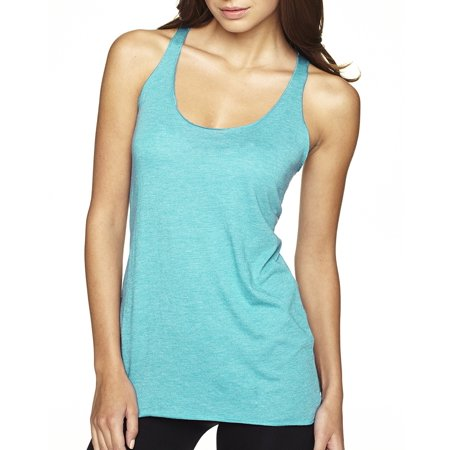 Branded Next Level Ladies Triblend Racerback Tank Top - TAHITI BLUE - 2XL (Instant Saving 5% & more on min 2)