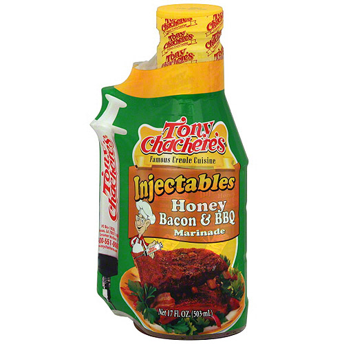 Tony Chachere's Famous Creole Cuisine Honey Bacon & BBQ Injectables Marinade, 17 oz (Pack of 6)
