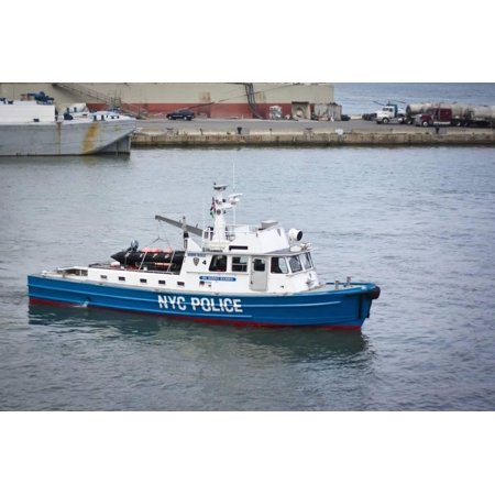 NYPD New York Police Boat Photo Poster Print Wall - Nypd Decorations