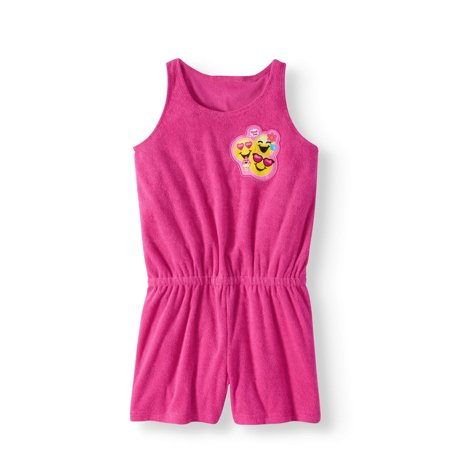 Emoji Girls' Swim Cover Up