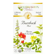 Celebration Herbals Organic Burdock Root Tea Caffeine Free 24 Herbal Tea Bags