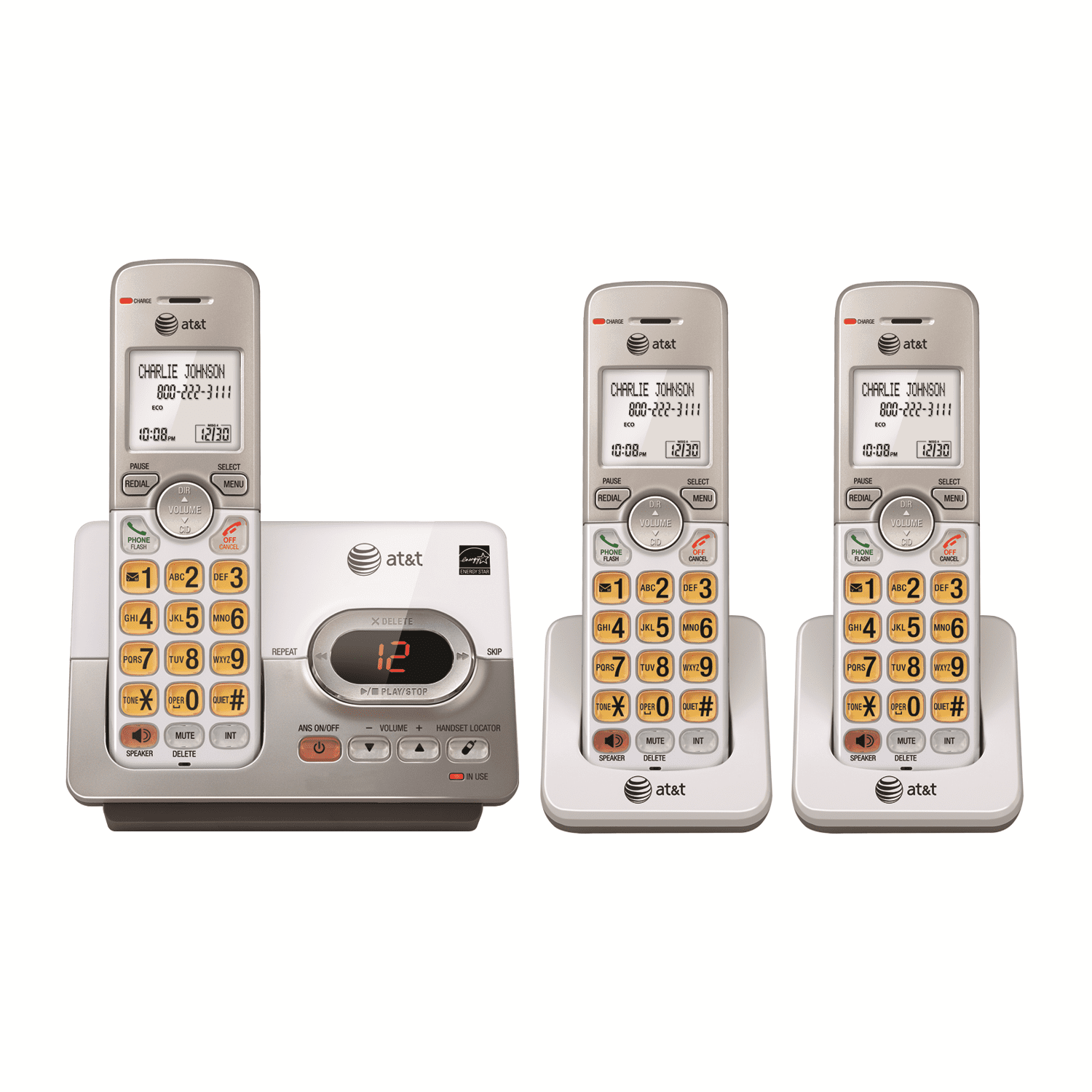 AT&T EL52303 3-Handset Answering System With Caller ID & Call Waiting by AT&T