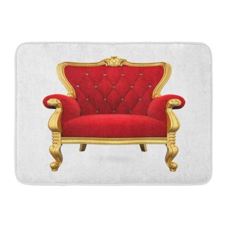 - KDAGR Red King Throne Chair 3D Rendering Royal Armchair Royalty Vintage Doormat Floor Rug Bath Mat 23.6x15.7 inch