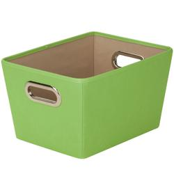 Honey Can Do Large Decorative Storage Bin with Handles, Multicolor