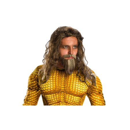 Halloween Aquaman Movie Adult Aquaman Beard and Wig Set](Halloween Face Painting Beard)