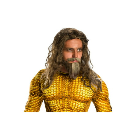Halloween Aquaman Movie Adult Aquaman Beard and Wig Set