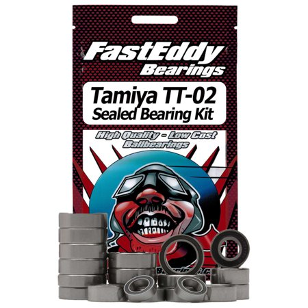 FastEddy Bearings Rubber Sealed Bearing Kit: Tamiya TT-02 Chassis, TFE411