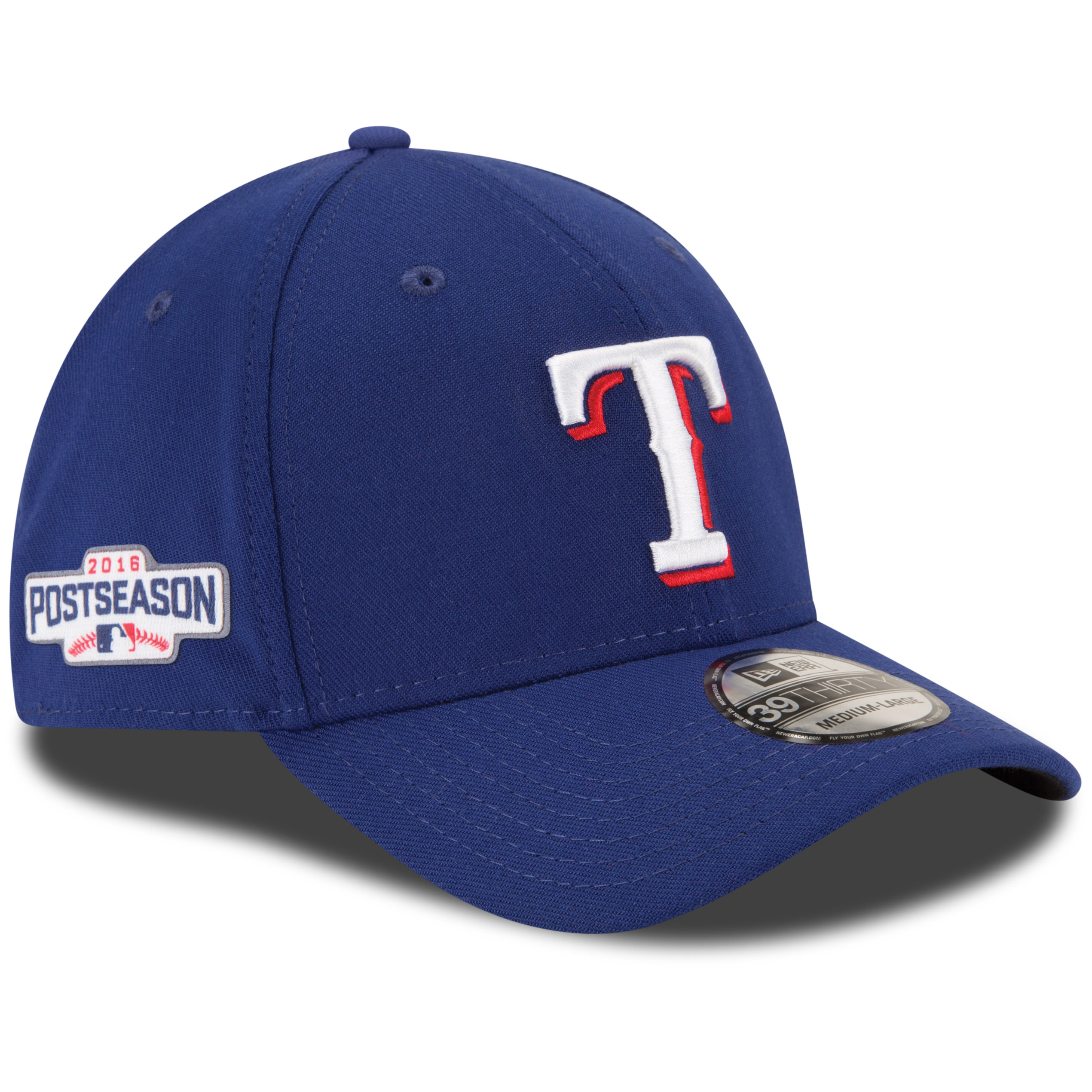 Texas Rangers New Era 2016 Postseason Side Patch 39THIRTY Flex Hat - Royal