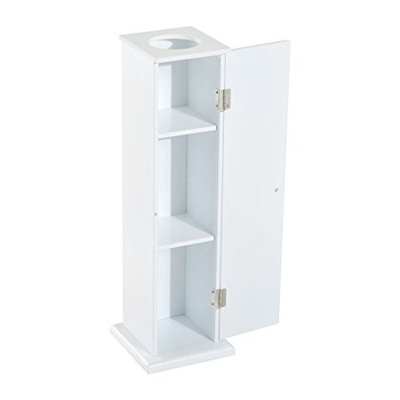 "26"" Modern Country Vertical Tissue Bathroom Storage Cupboard Cabinet - White"