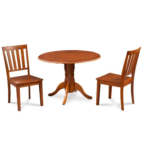 Alcott Hill Chesterton Traditional 3 Piece Solid Wood Dining Set
