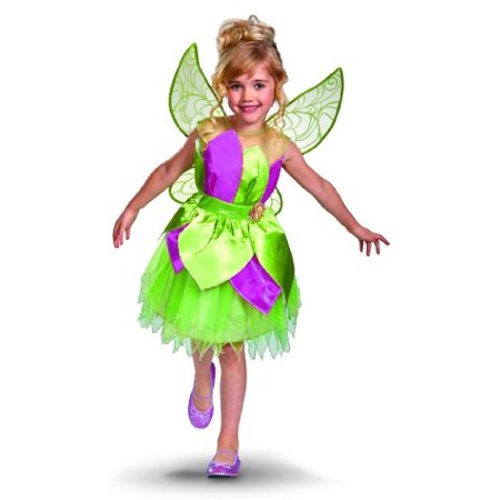 Disney Fairies Tinker Bell Deluxe Girls Costume, 3T-4T
