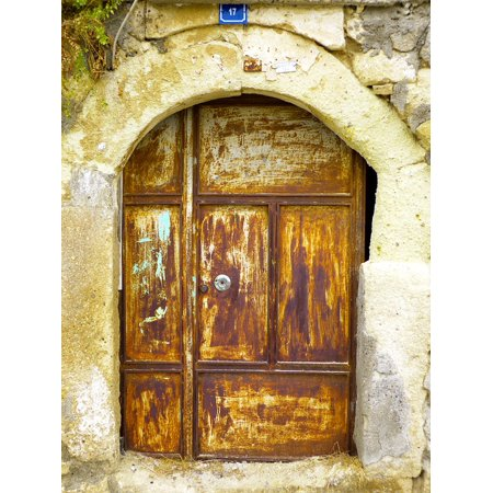 - Canvas Print Goal Iron House Entrance Door Rusty Old Doors Stretched Canvas 10 x 14