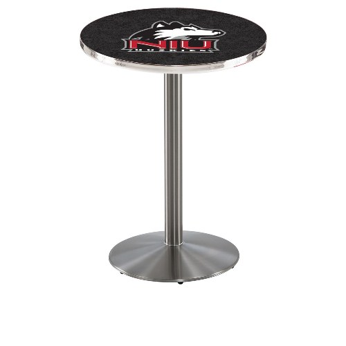 NCAA Pub Table by Holland Bar Stool, Stainless - NIU Huskies, 42'' - L214