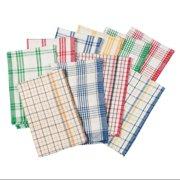 Plaid Kitchen Towels, Set of 10