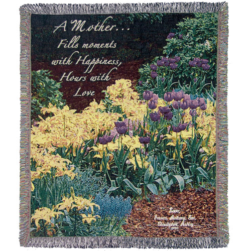 "Personalized Mother's 50"" x 60"" Tapestry Throw, Garden"