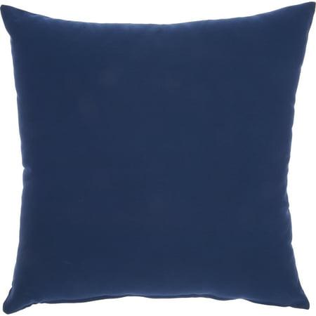 Nourison Outdoor Pillows Color Block Navy Decorative Throw Pillow , 18