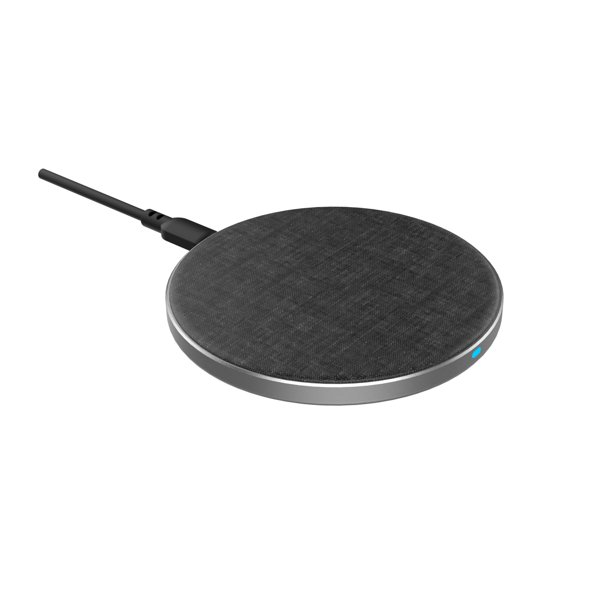 onn. Wireless Charging Pad, Grey (Fabric)