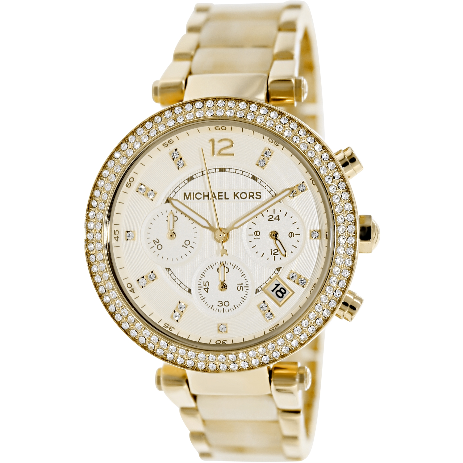 Michael Kors Women's Parker MK5632 Gold Stainless-Steel Quartz Fashion Watch