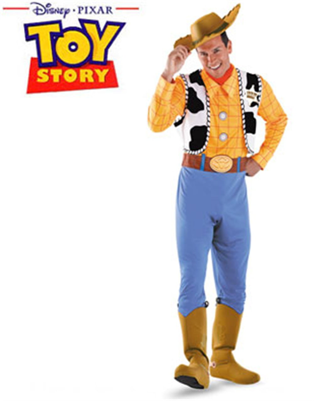 toy story deluxe woody adult halloween costume - walmart