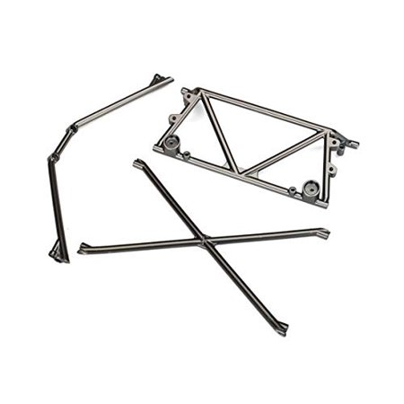 Chrome Chassis - Traxxas 8433X Tube Chassis Center/Rear Support/Cage Top (Satin Black Chrome)
