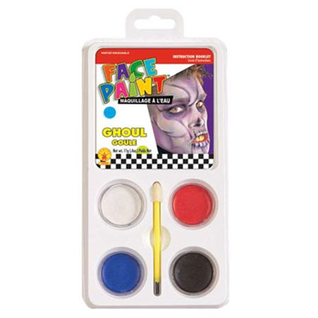 Ghoul Ghost or Zombie Costume Accessory 5-Piece Aqua Makeup Kit (Last Minute Halloween Makeup Zombie)