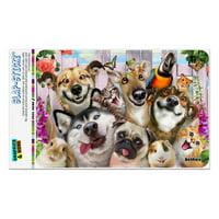"Pet Animals Selfie Dogs Cats Rabbit Hamster Guinea Pig Home Business Office Sign - Window Sticker - 4"" x 6"" (10.2cm x 15.2cm)"