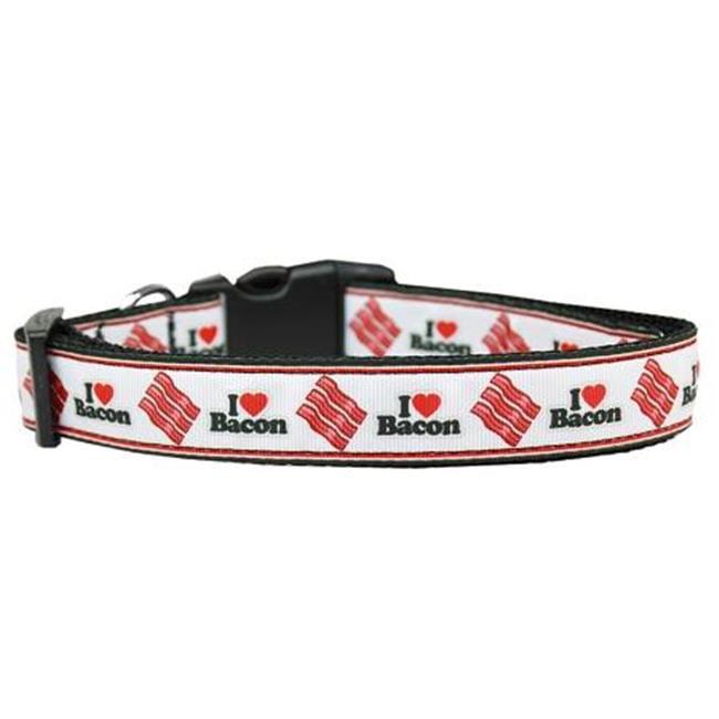 I Love Bacon Nylon Dog Collars Medium - image 1 de 1