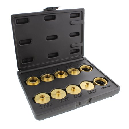 DCT Brass Router Template Guides Bushing & Lock Nuts 10-Piece Guide Bushings Set ()
