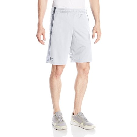 Under Armour Tennis Shorts (Under Armour Men's Tech Mesh ATHLETIC Shorts Large White/Steel)