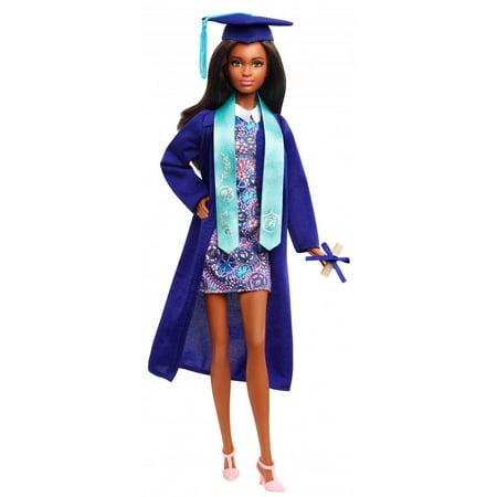 Barbie Graduation Day Cap & Gown Doll with Brunette Hair & - Graduation Barbie
