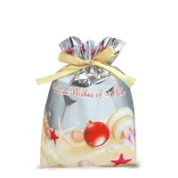 Hawaiian Drawstring Small Holiday Gift Bags 3 Pack Holiday Seashells