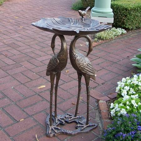 Oakland Living 2 Crane Lily Bird Bath