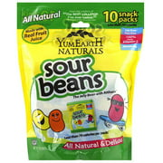 YumEarth Naturals Sour Beans Snack Packs, 7 oz, (Pack of 12)